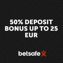 50% bonus with Betsafe